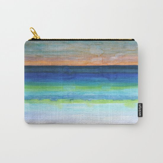 White Beach at Sunset Carry-All Pouch
