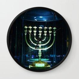 Menorah of Israel Wall Clock