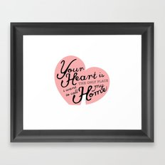 The Only Place Framed Art Print