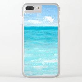 Tropical Zen Clear iPhone Case