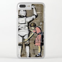 Girl and clone Clear iPhone Case