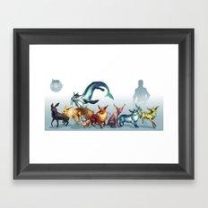 Pokemon-Eevee Framed Art Print