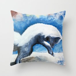 Animal - Antoine the Artic Fox - by LiliFlore Throw Pillow