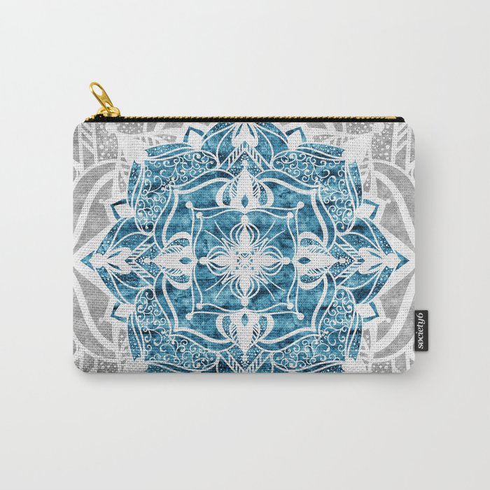 Oriental Nights Ink Blue Carry-All Pouch