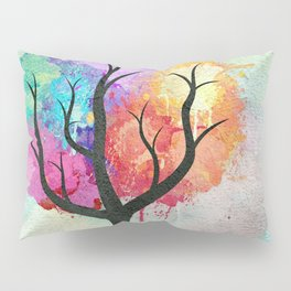 Awesome abstract pastel colors oil paint tree of Life Pillow Sham