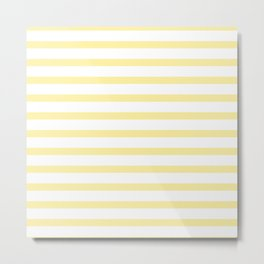 Yellow Stripe Metal Print