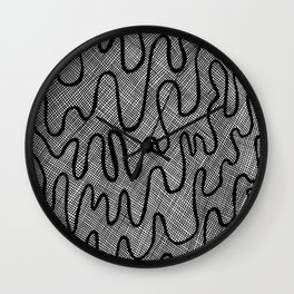 Screen Door Abstract Wall Clock