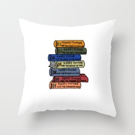 Seven Years at Hogwarts Throw Pillow