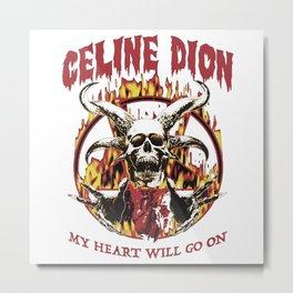CelineDionHardcore Metal Print