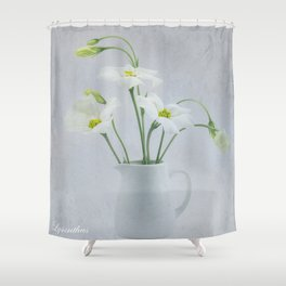 Simply Delightful Lisianthus Shower Curtain