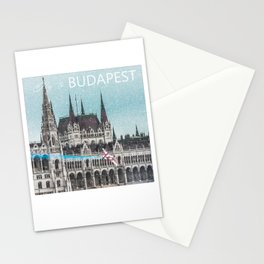 Fly to Budapest Stationery Cards