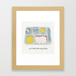 Pizza Friday Framed Art Print