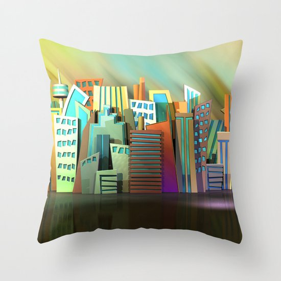 City of Color Throw Pillow