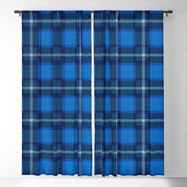 Scottish Tartan Blue Blackout Curtain
