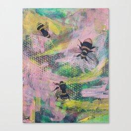 Bee Trio Canvas Print