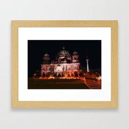sketch / illustation of the berlin cathedral  Framed Art Print