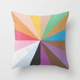 Rainbow Wheel of Inclusivity Throw Pillow