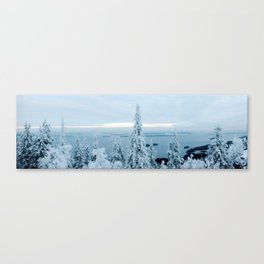 Snow at Koli Canvas Print