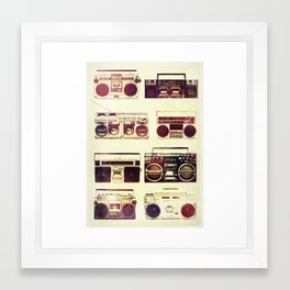 Analog Love: Boom Framed Art Print