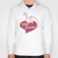 kansas Hoodies featuring Flat Kansas by Snorting Pixels