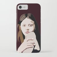 goth iPhone & iPod Cases featuring Mia Goth by Anna McKay