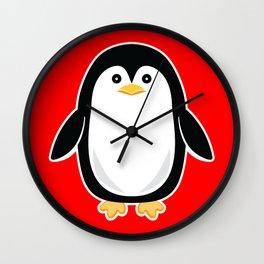 Baby Penguin Wall Clock