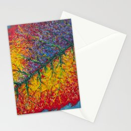 Vibrant Colors in an Autumn Leaf Stationery Cards