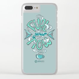Fuel Your Now (coffee helps) Clear iPhone Case