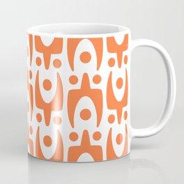 Mid Century Modern Abstract Pattern 541 Orange Coffee Mug