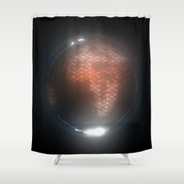 Albedo: Africa and Europe by Night Shower Curtain