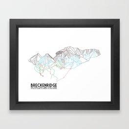 Breckenridge, CO - Minimalist Trail Map Framed Art Print
