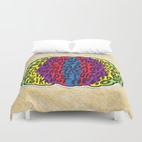 afro Duvet Covers featuring Circus Afro! Circus Afro!  by Brieana