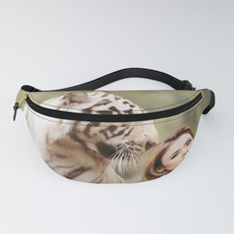 White Tiger from Bengal   Tigre blanc du Bengale Fanny Pack