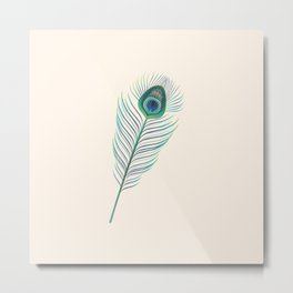 My little indian Feather Metal Print