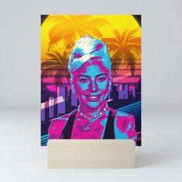 LadyGaga vintage art Mini Art Print