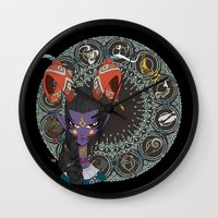 zodiac Wall Clocks featuring Zodiac : Capricorn by Det Tidkun