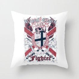 Royal Class Fighter Throw Pillow