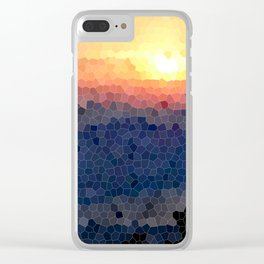 Stained-glass Effect Sunset Clear iPhone Case