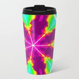 Rainbow Fire Starburst Travel Mug