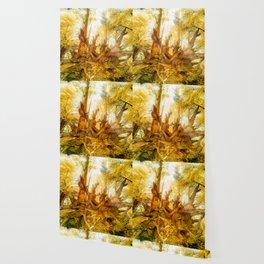 Dried Oak Wallpaper
