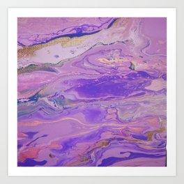 Purple Mudslide Art Print