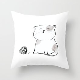 Play with me, Human. Throw Pillow