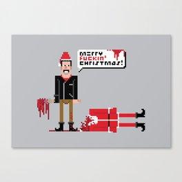 Negan Christmas Card Canvas Print