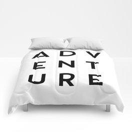 Adventure Minimalist Quote Comforters