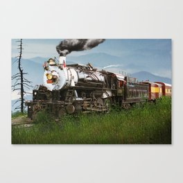 Smokey Mountain Railway Steam Locomotive Canvas Print