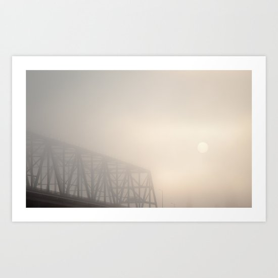 Veiled Sunrise Art Print