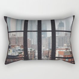 New York City Window Rectangular Pillow