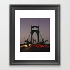 St. Johns Bridge III Framed Art Print