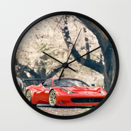 Italian supercar 458 italia Wall Clock