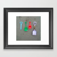 Spades in spiddal. Framed Art Print